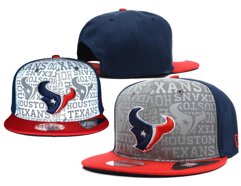 Houston Texans 2014 Draft Reflective Snapback Hat SD 0613